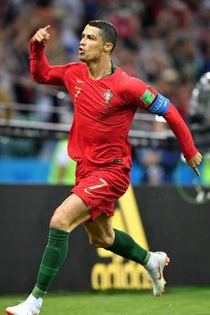 Cristiano Ronaldo of Portugal celebrates scoring his side's first. Cristiano Ronaldo Portugal, Cristiano Ronaldo Cr7, Cristino Ronaldo, World Cup 2018, Fifa World Cup, Cr7 Portugal, Portugal National Football Team, Soccer Post, Stuart Franklin