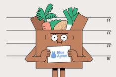How to Live Off Blue Apron Trials for a Month Couple Illustration, Character Illustration, Digital Illustration, Graphic Illustration, Dna Drawing, Ocean At Night, Stop Motion, Motion Design, Digital Collage