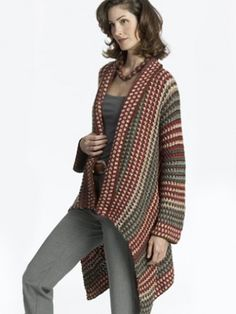 Yarnspirations.com - Caron Asymmetrical Jacket - Patterns  | Yarnspirations