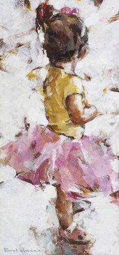'Young ballerina', acrylic on panel, Dorus Brekelmans 2016