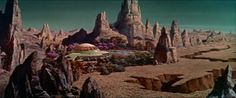 "don56:  Morbius's home on Altair IV in ""Forbidden Planet"" matte painting"
