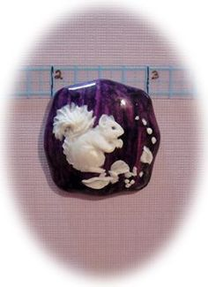 Vintage Hand Carved Button