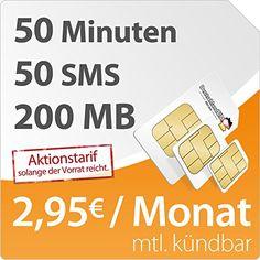 http://ift.tt/1NYUg3r DeutschlandSIM SMART 200 [SIM Micro-SIM und Nano-SIM] monatlich kündbar (200MB Daten-Flat mit max. 72 MBit/s 50 Frei-Minuten 50 Frei-SMS 295 Euro/Monat 15ct Folgeminutenpreis) O2-Netz ! salesviiko@