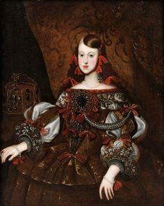 """DIEGO VELASQUEZ FOLLOWER OF, """"MARGARITA TERESA OF SPAIN"""" (1651-1673)."""