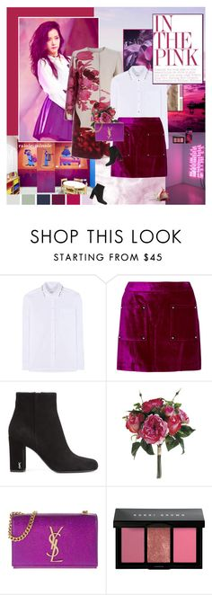 """""""Off Pink and Purple"""" by rainie-minnie ❤ liked on Polyvore featuring Grace, Giambattista Valli, Valentino, Opening Ceremony, Yves Saint Laurent, Bobbi Brown Cosmetics and Elizabeth Arden"""