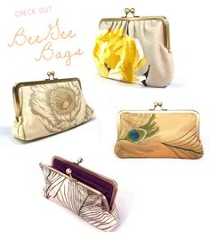 Our #BeeGee Bags were a suggested #bridesmaid gift by @Once Wed!   Shop www.beegeebags.com