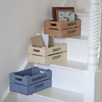 Storage Crates - Personalised Wooden Apple Crates for Indoors or Out