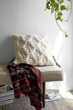 If your favorite chunky sweater and a super fluffy pillow had a baby, this would be it.