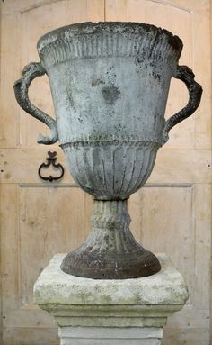 18th c. Iron Urn. Chateau Domingue Houston TX