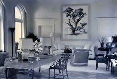 Palm Beach - 1937 | New York Social Diary Ellen & Wolcott Blair's villa South Ocean Boulevard Treanor & Fatio, architect. Ruby Ross Woods and Billy Baldwin, interior decoration