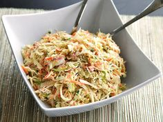 Classic cole slaw of deeply flavored, sweet-and-tangy cabbage. The secret is to do a rapid purge of excess cabbage liquid with a quick cure of salt and sugar before tossing the shreds in a creamy dressing.