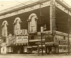 The grande dame of Ottawa movie theatres. Bank and Queen, 1953 Gone since Capital Of Canada, Capital City, Old Photos, Vintage Photos, Movie Theater, Back In The Day, Ottawa, The Neighbourhood, Old Things