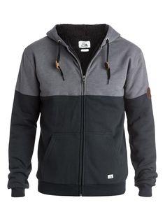 quiksilver Color Block Sherpa Zip - Up Sweatshirt Navy Blazer - Solid Jean Jacket Outfits, Denim Jacket Men, Sporty Outfits, Nike Outfits, African Dresses Men, Stylish Hoodies, Sweat Shirt, Mens Sweatshirts, Men Sweater