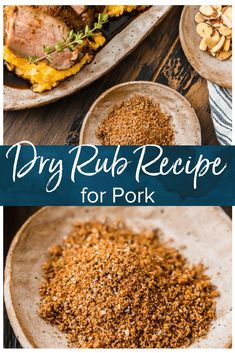This dry rub recipe is the best dry rub for pork tenderloin, pork chops, or other cuts of pork. The mix of herbs & spices naturally complements the meat & fills it with flavor! Pork Chop Dry Rub, Pork Dry Rubs, Meat Rubs, Pulled Pork Rub, Rub For Pork Chops, Bbq Pork Tenderloin, Bbq Pork Ribs, Recipe For Grilled Pork Tenderloin, Smoked Pork Steaks Recipe