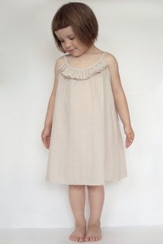 Crinkle cotton dress for girl. Height 116. $34.00, via Etsy.