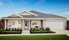Providence Facade Boutique Homes Victoria, Australia House Paint Exterior, Exterior House Colors, Exterior Design, Facade Design, Die Hamptons, Hamptons Style Homes, Style At Home, Boutique Homes, Display Homes