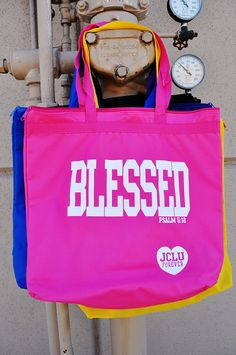$19.99- BLESSED ZIPPERED TOTE BAG  by JCLU Forever Christian t-shirts  IN 5 COLORS!