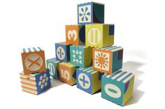 Wooden number blocks designed in the USA by Uncle Goose, as featured on Bobby Rabbit