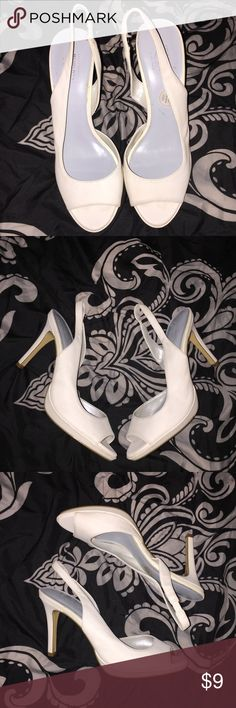 Lela Rose Unforgettable Moments Slingback Heels These are adorable and were only worn for my debutante ball. Admittedly, I spent quite a few hours in them so they do reflect a bit of wear. They're in good condition. Lela Rose Shoes Heels