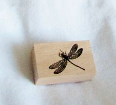 rubber stamp dragonfly bugs small stamping F by sallycrafts