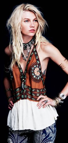 blouse, shirt, hippie, bohemian, ethnic, gypsy, embroidery, rust, orange, turquoise, teal, white.