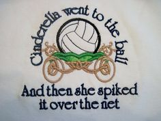 Cinderella Volleyball Shirt Cute Saying via Etsy Volleyball Shirts, Volleyball Locker, Volleyball Party, Volleyball Quotes, Volleyball Players, Softball, Soccer, Volleyball Cakes, Volleyball Motivation