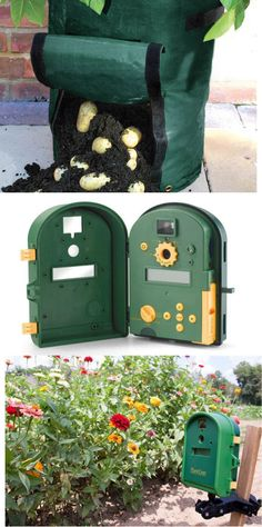 Potato planter bag and time lapse plant cam. Great gifts for any gardener... hint hint. ;)