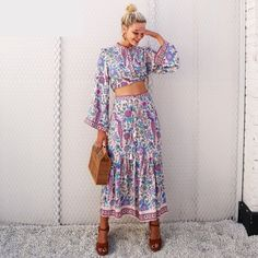 Beautiful boho skirt from Zefinka! Order yours today. | Vacation Outfits that Make the Best Instagram Pics