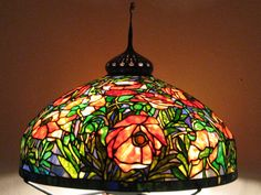 The most famous Stained glass lamps are those from Tiffany.