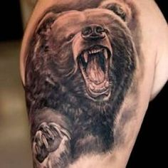 Grizzly Bear Tattoo Design