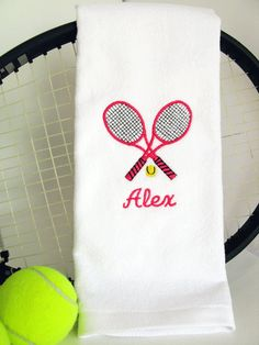 Tennis Gift  Personalized Tennis Towel   by TennisGiftsToGo, $15.95