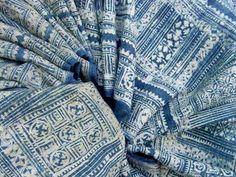 Batik  - from Vietnam. Indigo dye on hemp @ Emporium Hanoi www.emporiumhanoi.com #Hanoi #Vietnam #indigo #dye #print #batik #art #blue #ethnic #original