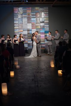 Candle Wedding Aisle   #bentleywedding #downtownphoenixvenues #warehouse215 #weddingvenue #rustic #unique #urban #warehouse #industrial #historic #phoenixwedding #wedding #eventvenue