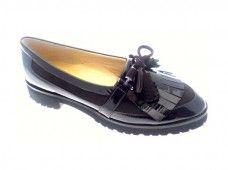 CALZATURIFICIO BRUNATE. MOCASSINO  Mocassino in camoscio e vernice con suola in microporosa extra light.  Casual shoe in brown patent and suede, extra light micro sole.   #loveitalianshoes
