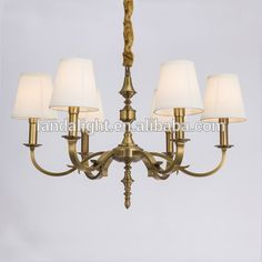 Modern Simple Lighting Brass Chandelier