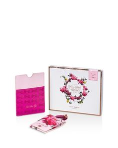 Ted Baker Citrus Bloom Luggage Tag & Passport Case Travel Set