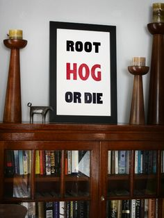 Root Hog - AR, Arkansas - Old Try - Letterpress Print
