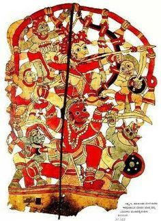 Laxman seated on Hanuman during war