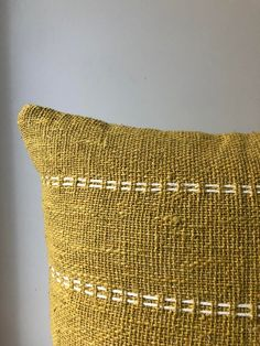 Organic Natural Raw Cotton Hand-dyed mustard colour with stitch finish. Home Decor Pillow Inserts, Pillow Covers, Triangle Print, African Mud Cloth, Boho Designs, Weaving Patterns, Boho Pillows, Weaving Techniques, Cotton Pillow