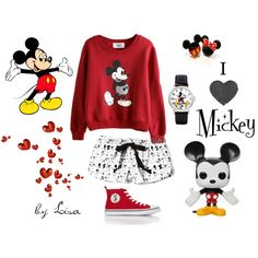 """""""Mickey Mouse"""" by coolmommy44 on Polyvore"""