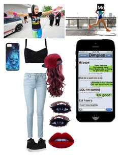 Running away from Bayley's hugs by briruiz on Polyvore featuring polyvore, fashion, style, Dolce&Gabbana, Frame Denim, Supra and NIKE