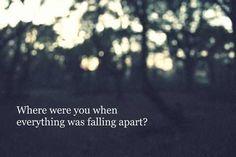 the fray lyrics | the fray # lyrics # where were you # falling apart