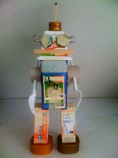 robot junk modelling trash robots cool own toy fun really toys crafts boxes diy visitar robotics
