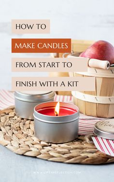 Here's how to make candles from start to finish!