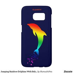 Jumping Rainbow Dolphins With Bubbles Samsung Galaxy S7 Case