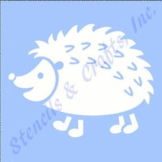 "5"" Hedgehog Stencil Craft Stencils Animal Templates Craft Template Paint Art New"