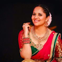 Indian Actress TV Anchor Anasuya Navel Hip In Pink Lehenga Choli - Tollywood Stars Indian Actress Hot Pics, South Indian Actress, Indian Actresses, Photoshoot Pics, Saree Photoshoot, Fashion Earrings, Fashion Jewelry, Desi Girl Image, Actress Priyanka