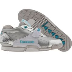 Reebok Womens SC Trainer Low (pure silver / white / neon blue) 2-J03202 - $59.99