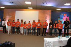 equipe responsável pelo evento junto com o diretor de eventos da Aluá - Flávio Fahl