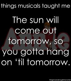 I actually sing this when I am down. I ignore my terrible voice and belt it out - you can't cry and sing this at the same time.